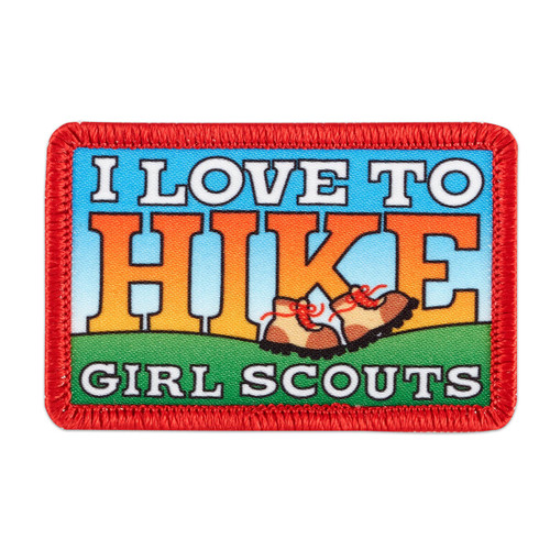 I Love To Hike Sew-On Patch