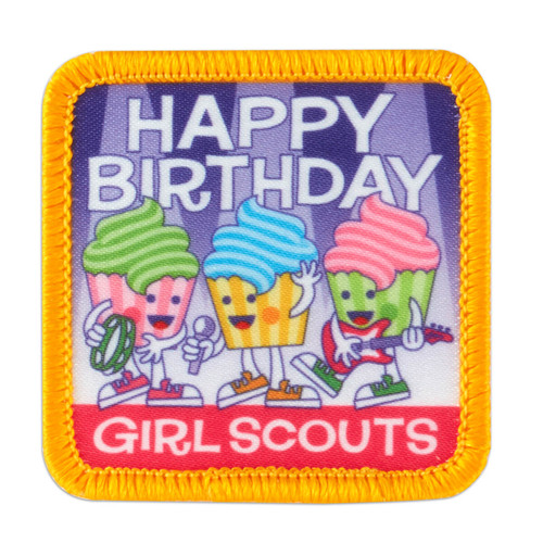 Happy Birthday Cupcake Band Sew-On