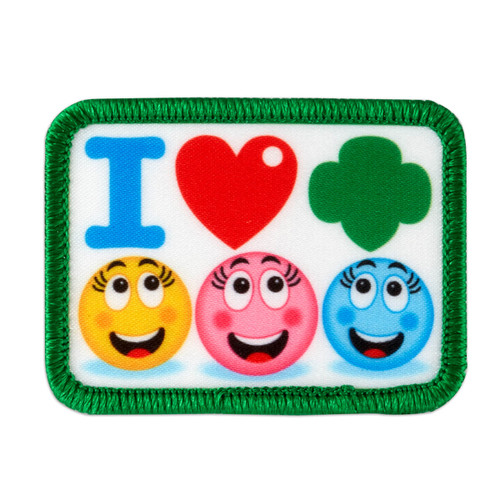 I Love Girl Scouts Emoticons Sew-On