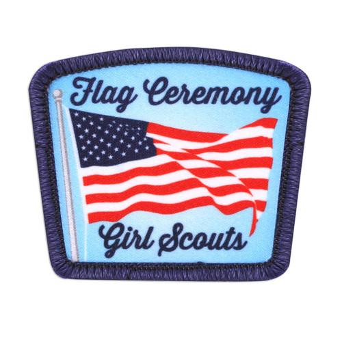 Girl Scout Flag Ceremony Sew-On Pat