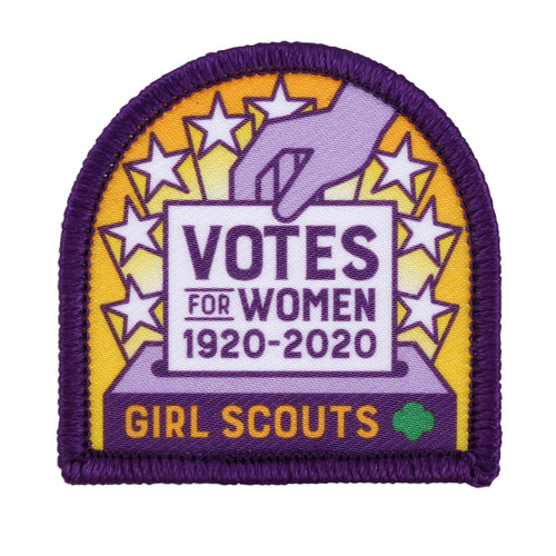 Girl Scout Votes for Women 1920 to 2020 Sew-On Patch