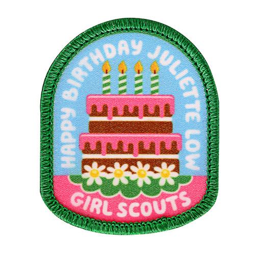 Birthday Cake JGL Sew-On Patch