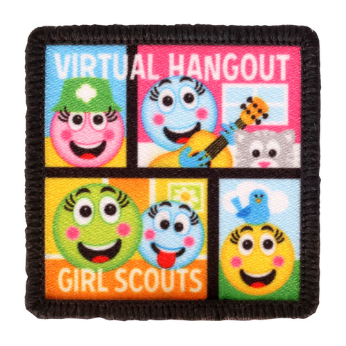 virtual hangout sew-on fun patch