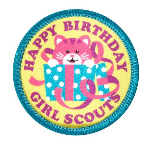 Happy Birthday Kitty Sew-On Patch