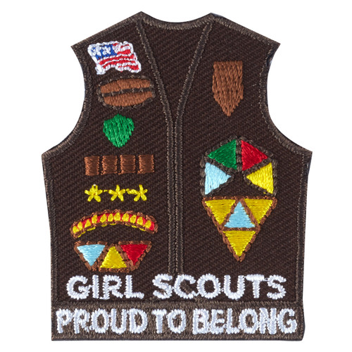 Brownie Vest Fun Patch