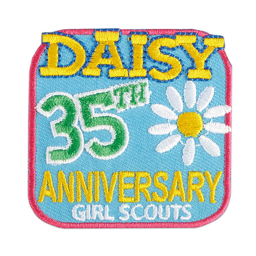Daisy Anniversary Iron-On Patch