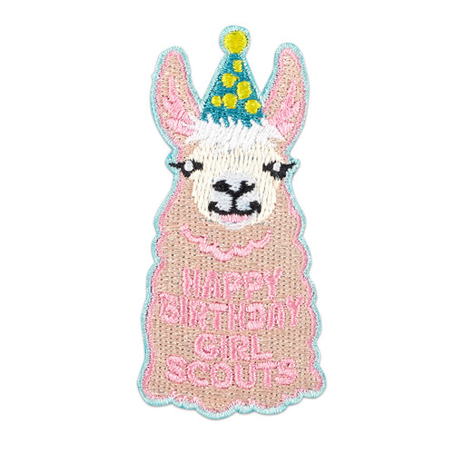 Happy Birthday Llama Iron-On Patch