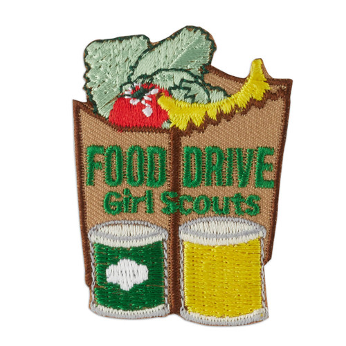 Food Drive Paper Bag Iron-On Patch