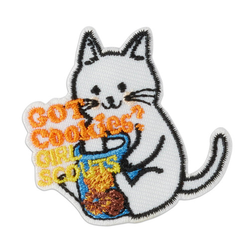 Got Cookies? Cat Iron-On Patch