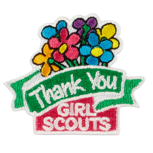 Thank You Flowers Iron-On Patch