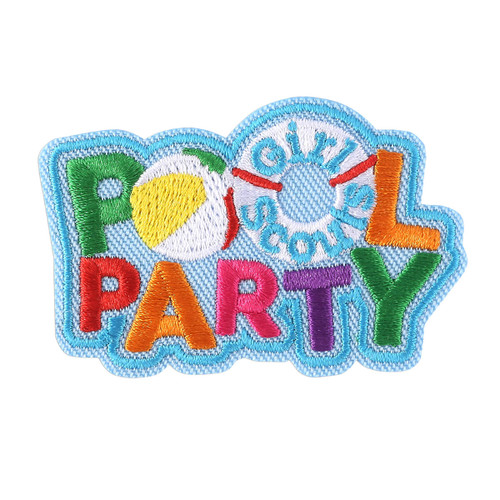 Girl Scout Pool Party Iron-On Patch