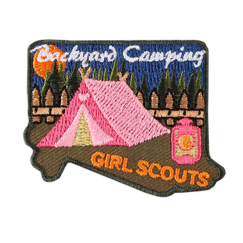 Backyard Camping Iron-On Patch