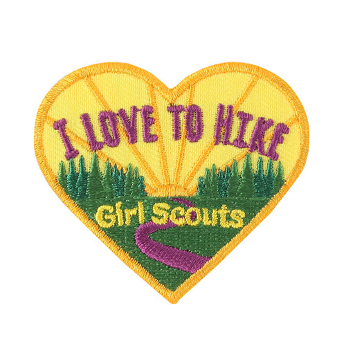 I Love to Hike Iron-On Patch