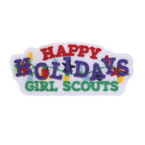 Happy Holidays Lights Iron-On Patch
