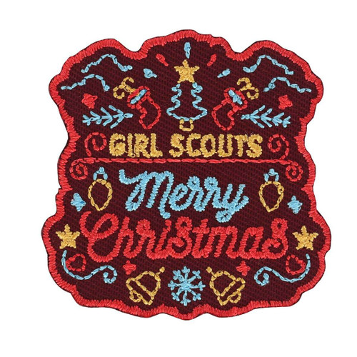 Merry Christmas Iron-On Patch