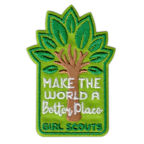 Girl Scouts Make the World a Better Place Iron-On Patch