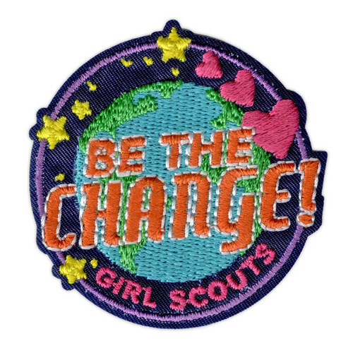 Girl Scouts Be the Change Iron-On Patch