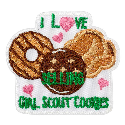 I Love Selling Girl Scout Cookies Iron-On Patch