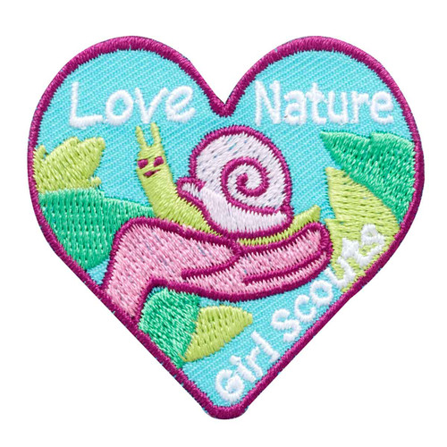 Love Nature Snail Iron-On Patch