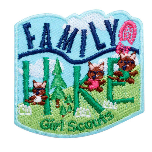 Family Hike Iron-On Patch
