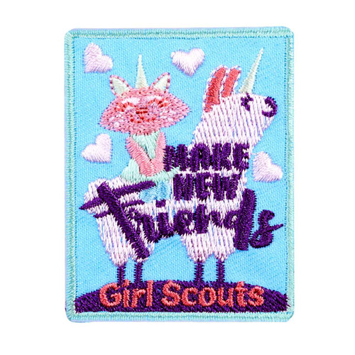 Make New Friends Iron-On Patch