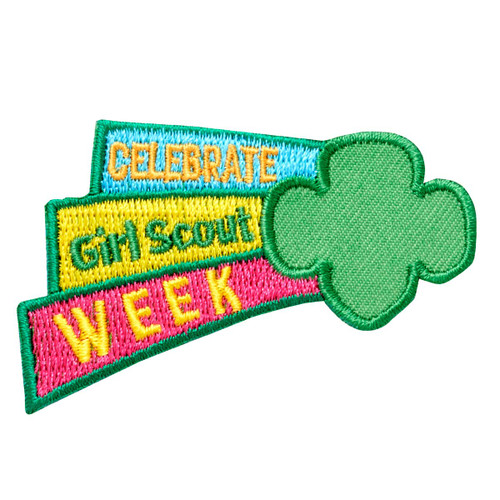 Celebrate Girl Scout Week Iron-On Patch
