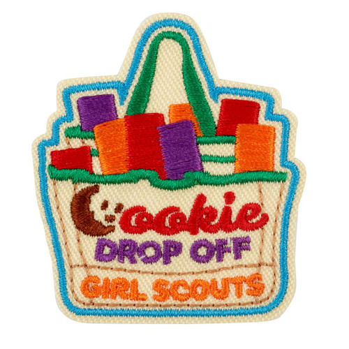 Cookie Drop Off Iron-On Patch