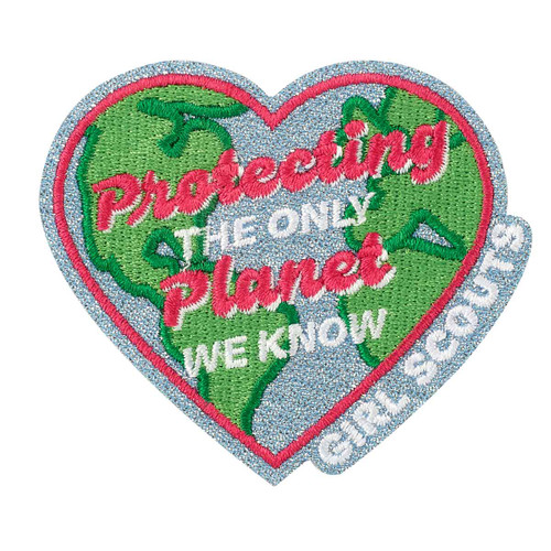 protecting the planet iron on patch