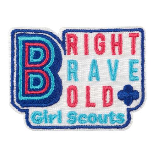Bright Brave Bold Iron-On Patch