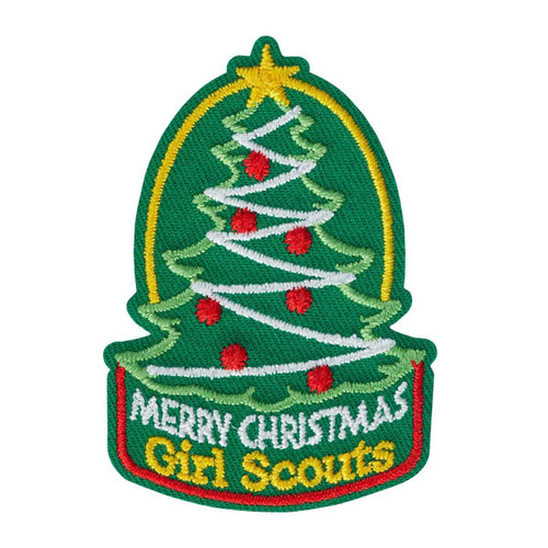 Merry Christmas Tree Iron-On Patch