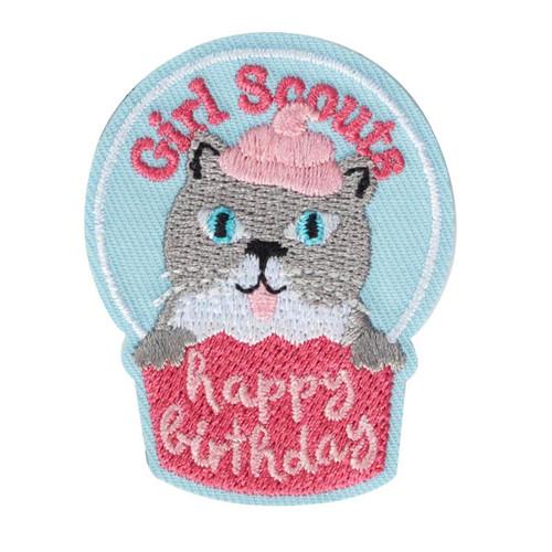 Cupcake Kitten Birthday Iron-On Pat