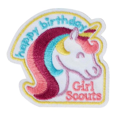 Unicorn Happy Birthday Iron-On Patc