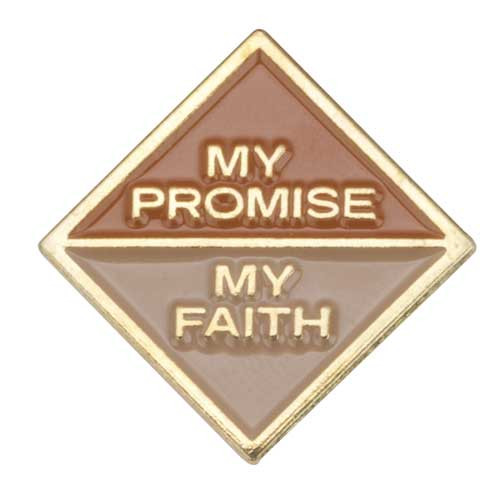 Brownie My Promise, My Faith Pin