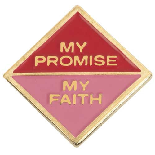 Cadette My Promise, My Faith Pin