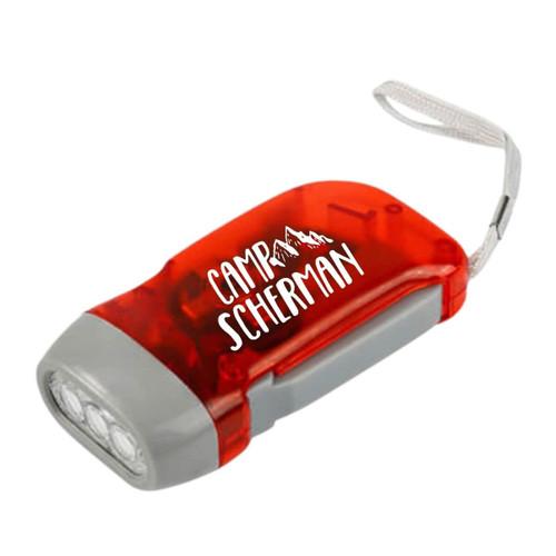 Red Camp Scherman Hand Crank Flash