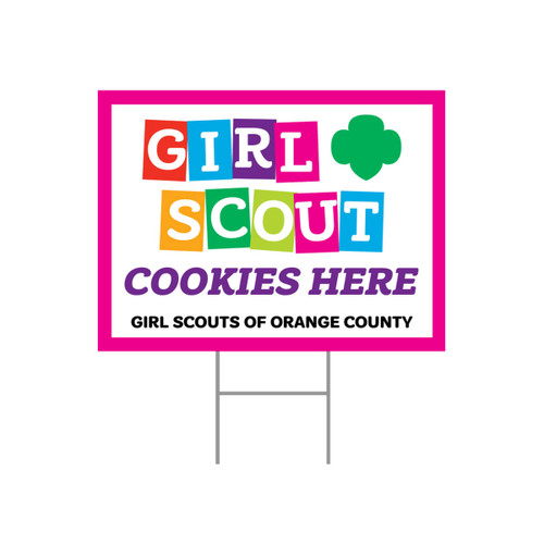"GSOC ""Girl Scout Cookies Here"" Yard"