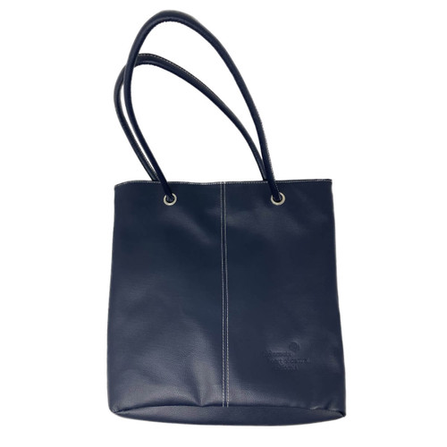 GSHCC Lamis Feux Leather Navy Tote