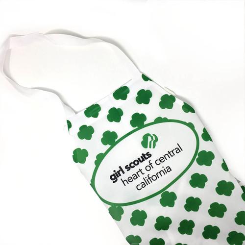 GSHCC Apron for Adults Green Trefoi
