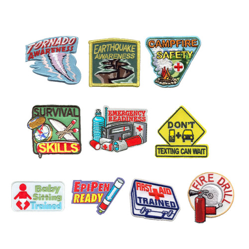 GSNorCal Iron on Fun Patches - Be P