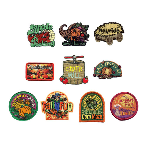 GSNorCal Iron on Fun Patches - Fall