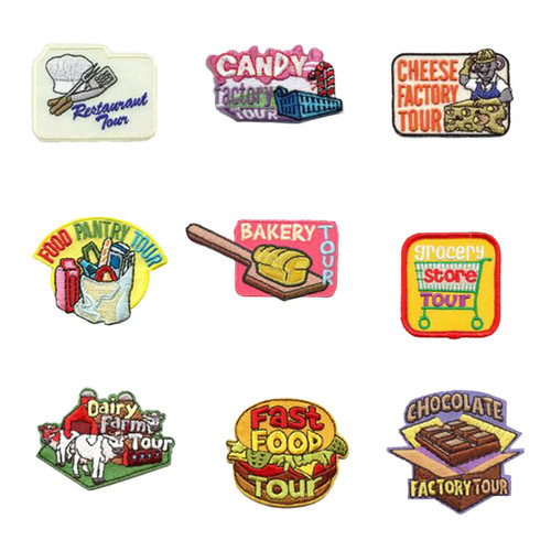 GSNorCal Iron on Fun Patches - Food