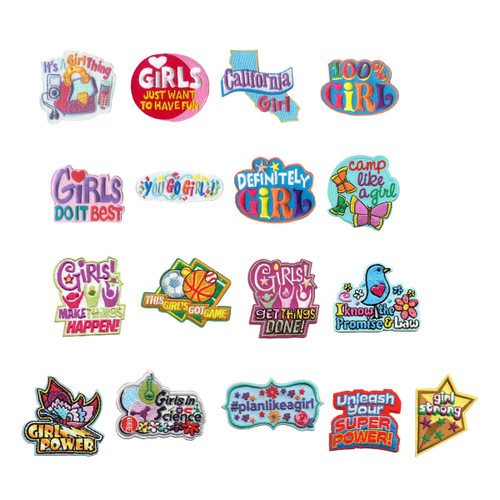 GSNorCal Iron on Fun Patches - Girl