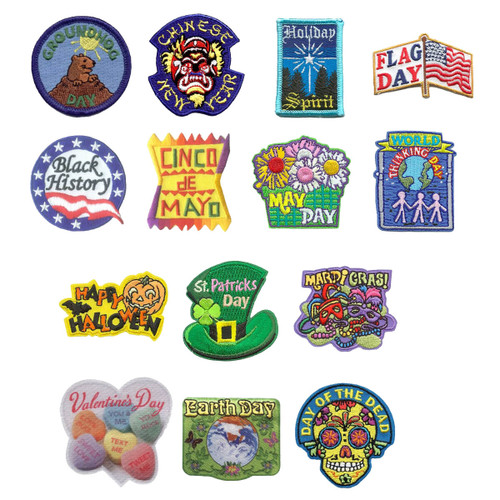 GSNorCal Iron on Fun Patches - Holi