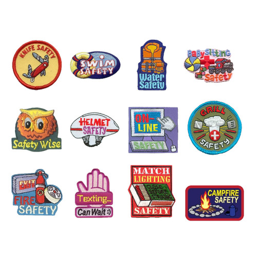 GSNorCal Iron on Fun Patches - Safe