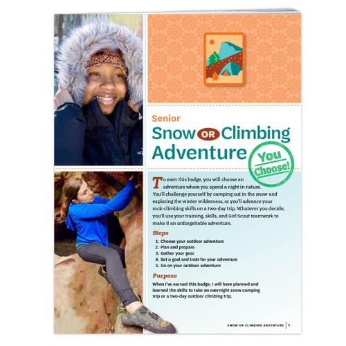 Senior Snow Or Climbing Adventure
