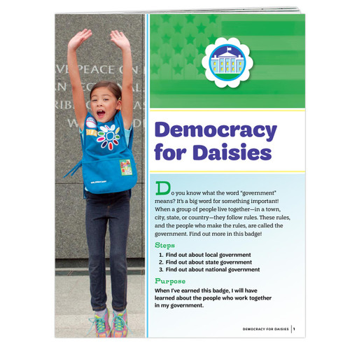 Democracy for Daisies Badge