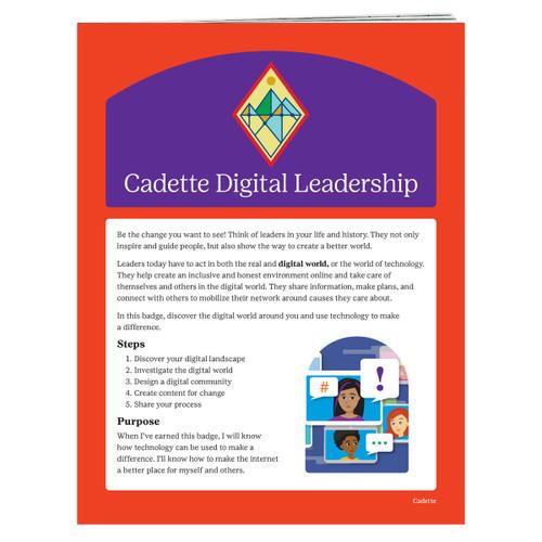 cadette digital leader requirements