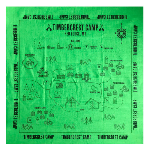 GSMW Timbercrest Camp Map Bandana