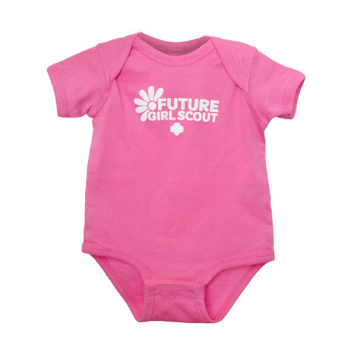 GSOSW Future Girl Scout Onesie Pink