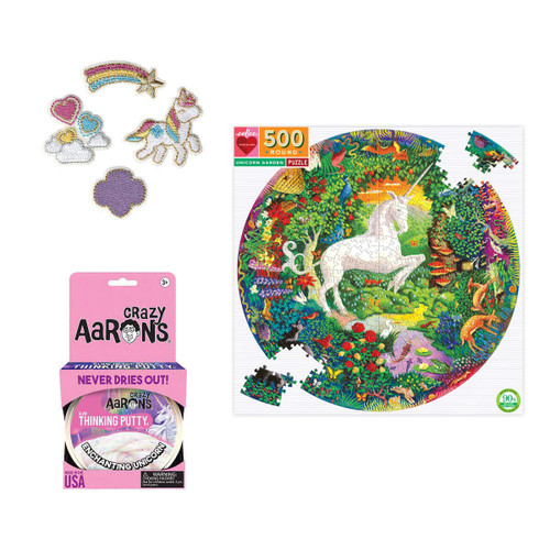 Unicorn Puzzle and More Holiday Bun